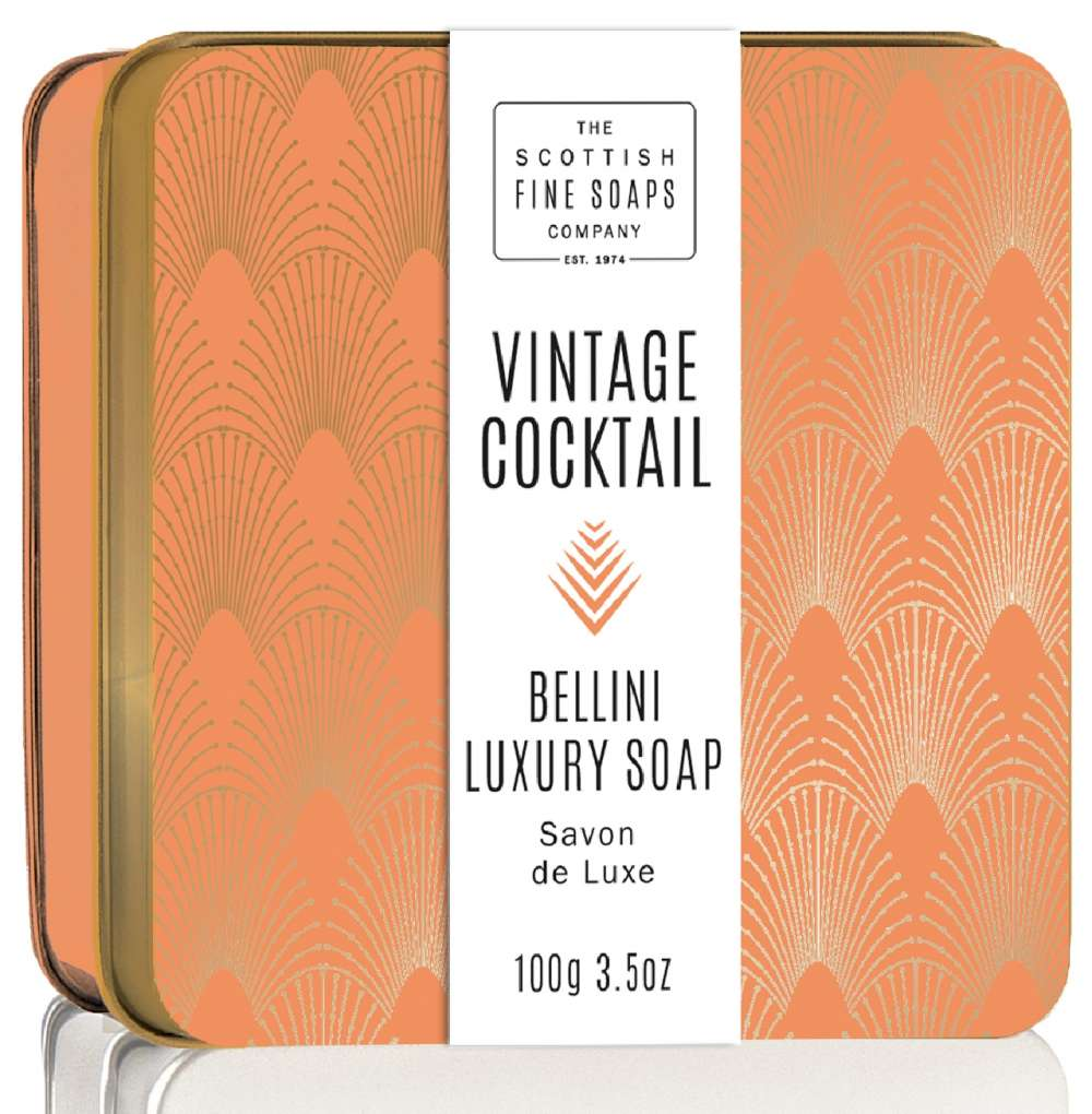 Scottish Fine Soaps Bellini Vintage Cocktail Soap In A Tin
