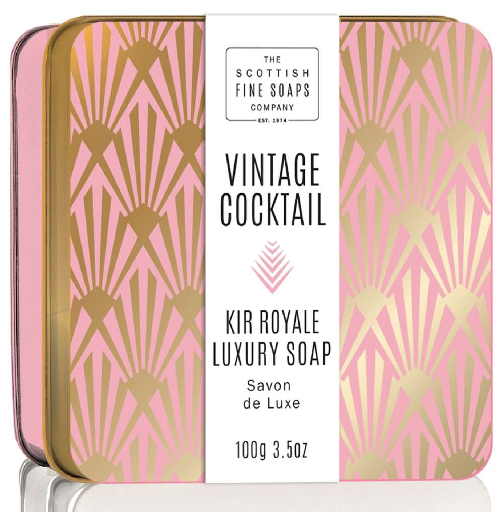 Scottish Fine Soaps Kir Royale Vintage Cocktail Soap In A Tin