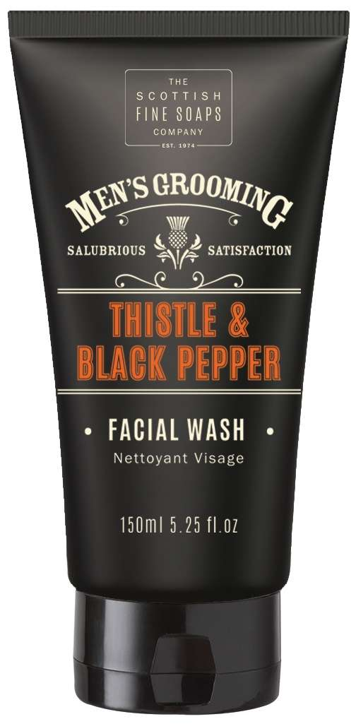 Scottish Fine Soaps Men's Grooming Thistle & Black Pepper Facial Wash