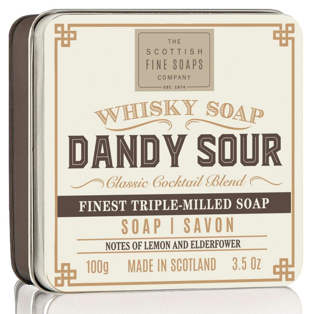 Scottish Fine Soaps Dandy Sour Whisky Cocktail Soap In A Tin