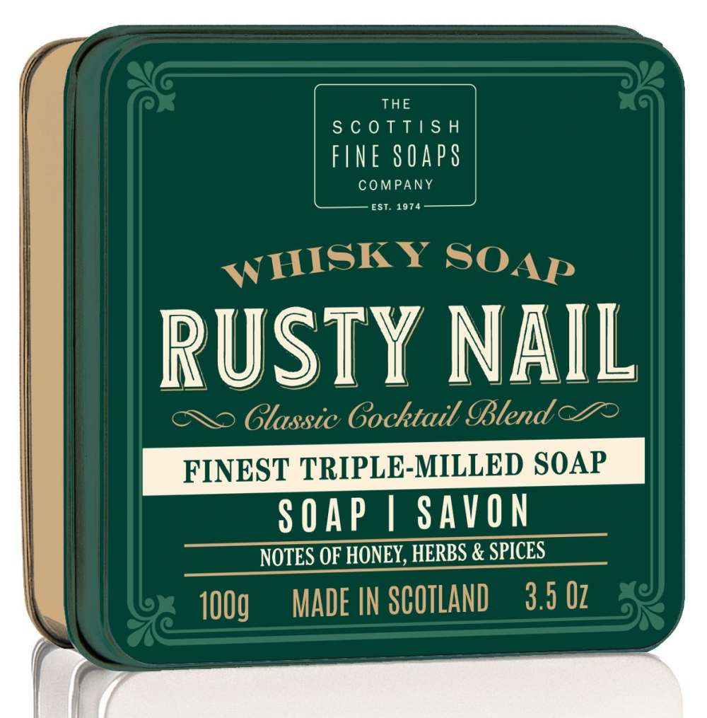 Scottish Fine Soaps Rusty Nail Whisky Cocktail Soap In A Tin