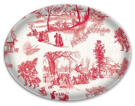 Michel Design Works - Christmas Wonderland Glass Soap Dish
