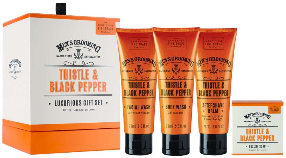 Men's Grooming Luxurious Gift Set by Scottish Fine Soaps