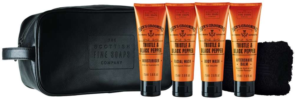 Men's Grooming Travel Wash Bag by Scottish Fine Soaps