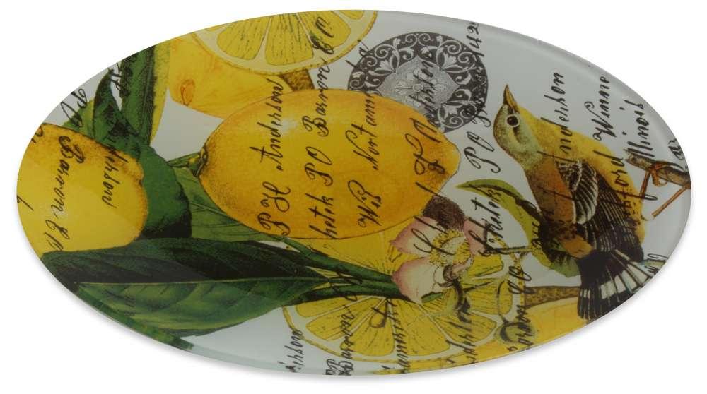 Lemon basil glass soap dish